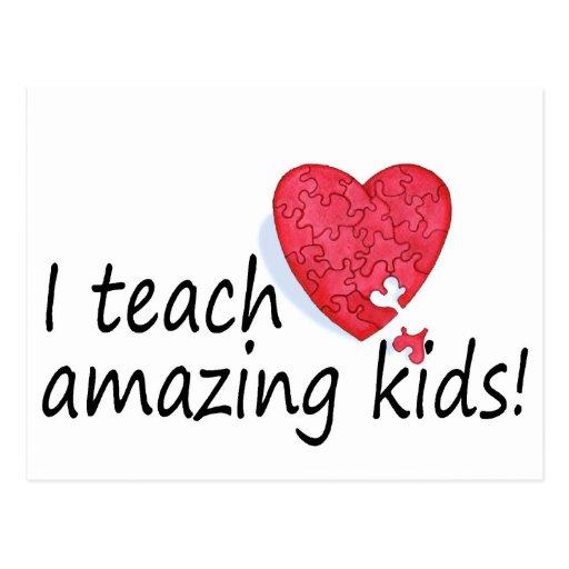 I Teach Amazing Kids Postcards