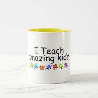 I Teach Amazing Kids (PP) Two-Tone Coffee Mug