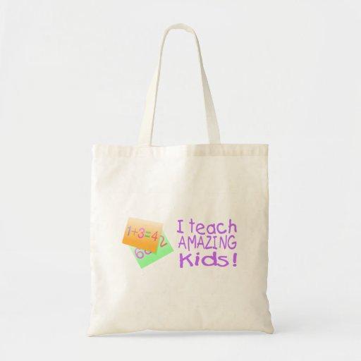 I Teach Amazing Kids (Ppl) Canvas Bags