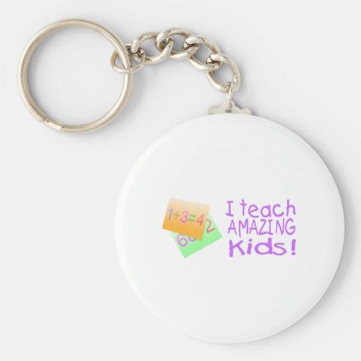 I Teach Amazing Kids (Ppl) Keychain