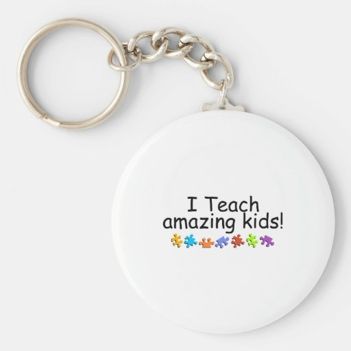 I Teach Amazing Kids (Puzzle) Keychains
