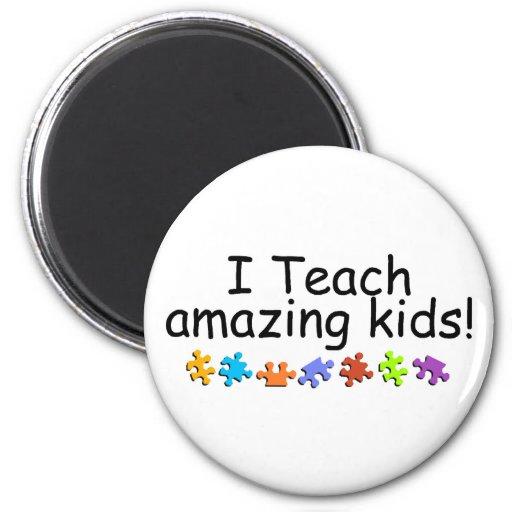 I Teach Amazing Kids (Puzzle) Refrigerator Magnets