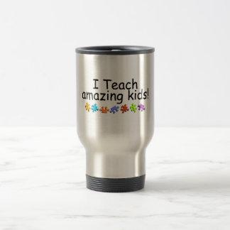 I Teach Amazing Kids (Puzzle) 15 Oz Stainless Steel Travel Mug
