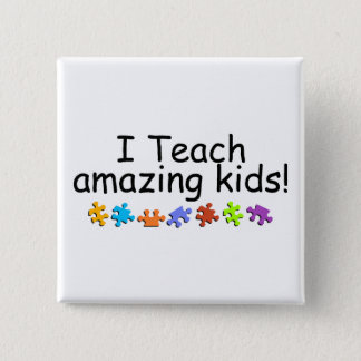 I Teach Amazing Kids (Puzzle) Pinback Button