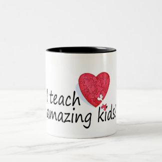I Teach Amazing Kids Two-Tone Coffee Mug