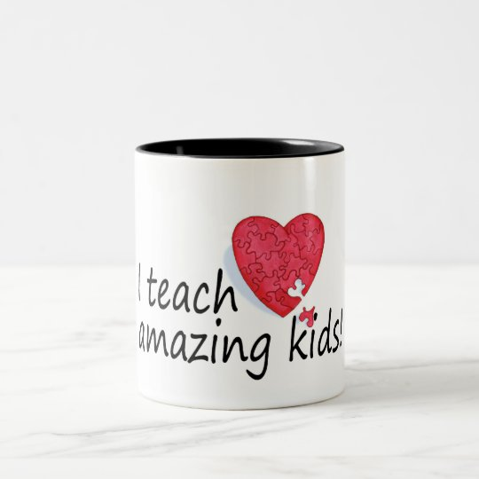I Teach Amazing Kids Two-Tone Coffee Mug