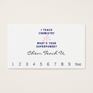 I Teach Chemistry What's Your Superpower? Business Card
