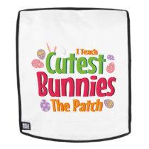 I Teach Cutest Bunnies Easter Teacher Gift Backpack
