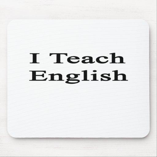 I Teach English Mousepad