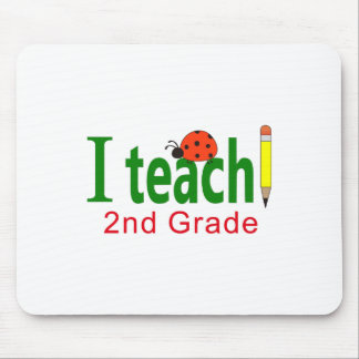 I TEACH FIRST GRADE MOUSE PADS