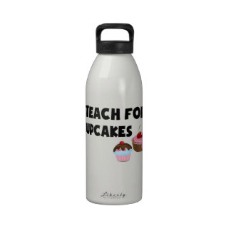 I Teach For Cupcakes Drinking Bottle