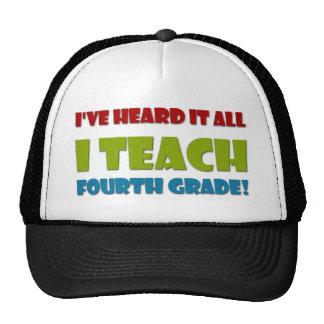 I Teach Fourth Grade Hats