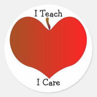 I Teach, I Care Sticker