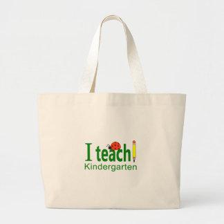 I TEACH KINDERGARTEN JUMBO TOTE BAG