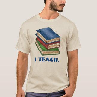 I Teach Library Book Stack Books Teacher Tee