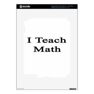 I Teach Math iPad 3 Decal