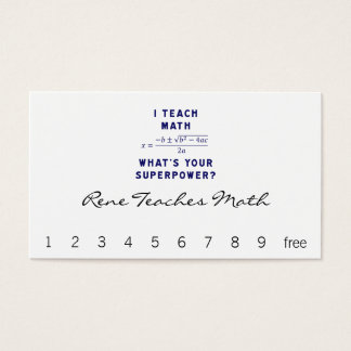 I Teach Math What's Your Superpower? Business Card