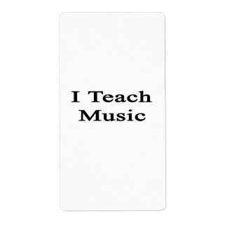I Teach Music Personalized Shipping Label