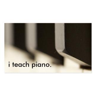 i teach piano. business cards