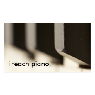 i teach piano. Double-Sided standard business cards (Pack of 100)