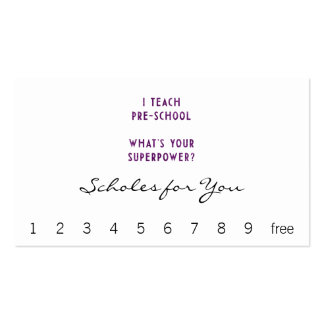 I Teach Pre-School What's Your Superpower? Double-Sided Standard Business Cards (Pack Of 100)