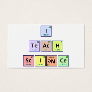 I Teach Science Business Card