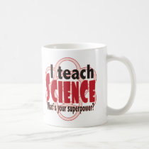 I teach science red coffee mug