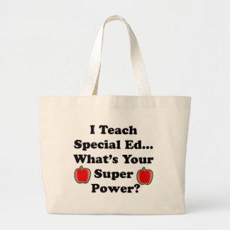I Teach Special Ed. Large Tote Bag