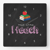 I teach square wall clock