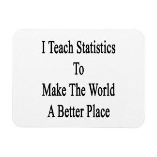 I Teach Statistics To Make The World A Better Plac Magnet