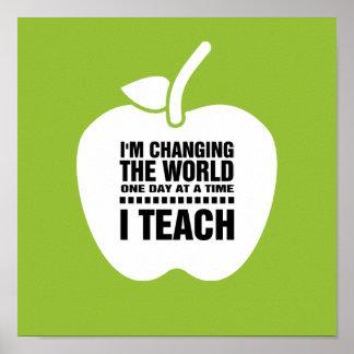 I Teach. Teaching Quote | Typography Art Print