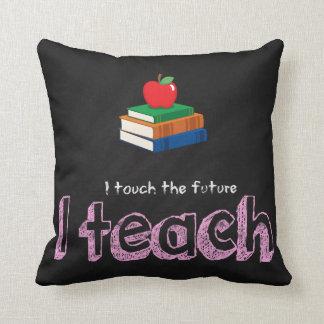 I teach throw pillow