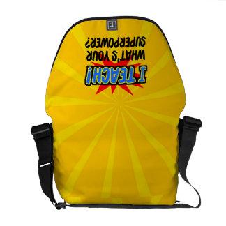 I Teach What's Your Superpower Superhero Teacher Courier Bag