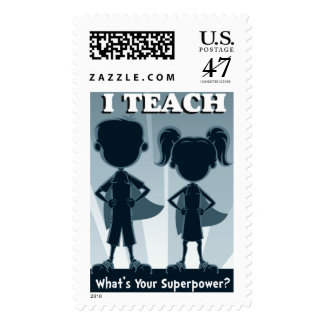I Teach What's Your Superpower - Teacher Stamps