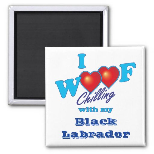 I tejido Labrador negro Imán Para Frigorífico