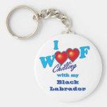 I tejido Labrador negro Llavero Personalizado