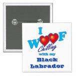 I tejido Labrador negro Pins