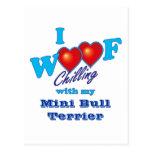 I tejido mini bull terrier postal