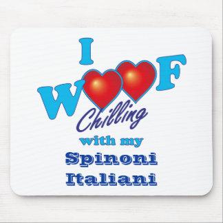 I tejido Spinone Italiano Tapetes De Ratón