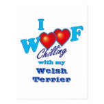 I tejido Terrier galés Postal