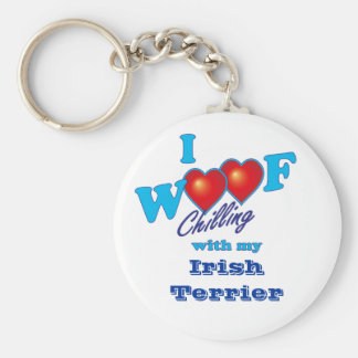I tejido Terrier irlandés Llavero Redondo Tipo Pin