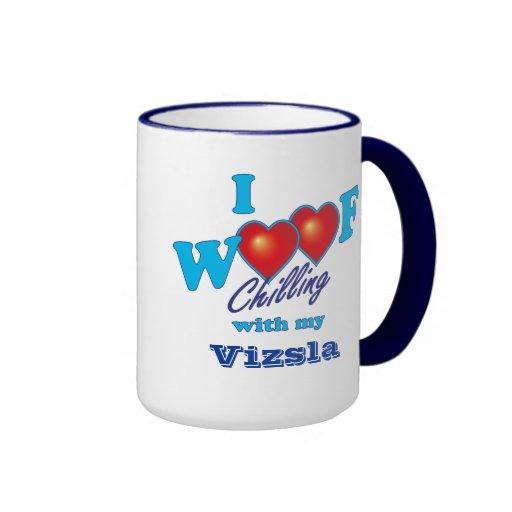 I tejido Vizsla Tazas De Café