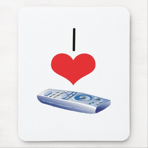 I telecontroles del corazón (amor) tapete de ratón
