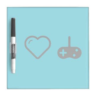 I telecontroles del juego del corazón tablero blanco
