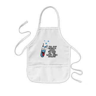 I Tell Bad Chemical JOkes Funny Pun Kids' Apron