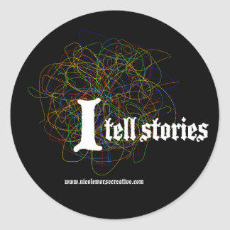 """I tell stories"" Stickers"