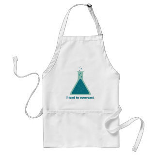I Tend To Overreact Chemistry Science Beaker Adult Apron