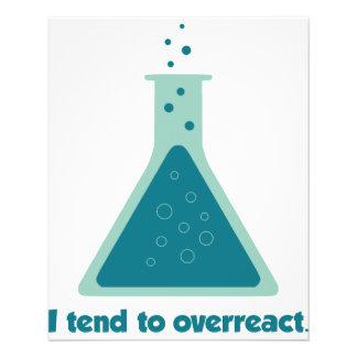 I Tend To Overreact Chemistry Science Beaker Flyer