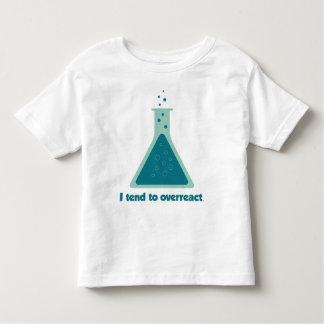 I Tend To Overreact Chemistry Science Beaker Toddler T-shirt