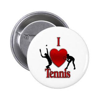 I tenis del corazón pin redondo de 2 pulgadas